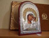 Серебряная икона Казанской Богоматери купить