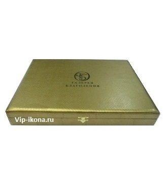 Подарочная коробка «Галерея Благолепия» для иконы размером 15*21см. (квадратная)