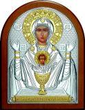 Икона Богородицы «Неупиваемая чаша» (12*16) в серебре с позолотой галерея благолепия купить