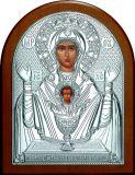 Икона Богородицы «Неупиваемая чаша» (12*16) в серебре галерея благолепия