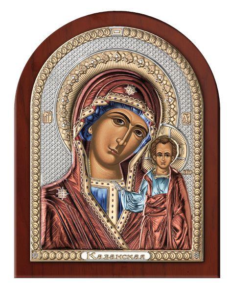 Серебряная икона Божией Матери Казанской (Valenti & Co, Италия)