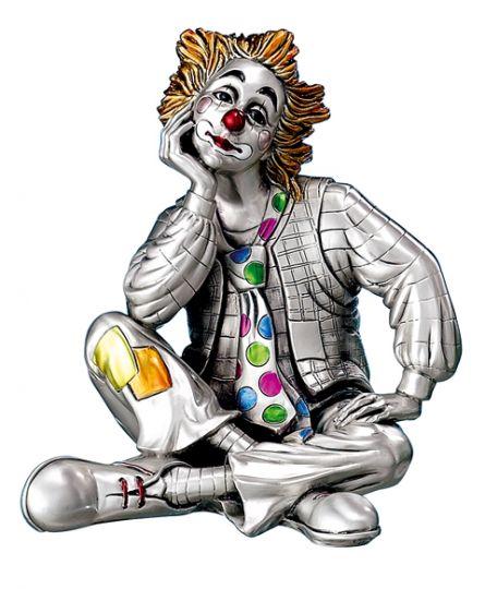 Серебряная коллекционная фигурка клоуна-мечтателя (Valenti & Co, Италия)