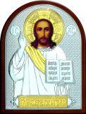 Икону Иисуса Христа Спасителя (19*25) в серебре с золочением купить