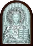 Икону Иисуса Христа Спасителя (15*21) в серебре с золочением купить