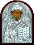Икону святителя Николая Чудотворца (Угодника) (19*25) в серебре купить
