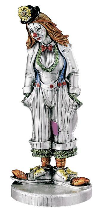 Серебряная коллекционная фигурка клоунессы в котелке (Valenti & Co, Италия)