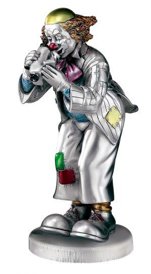 Серебряная коллекционная фигурка клоуна-фотографа (Valenti & Co, Италия)
