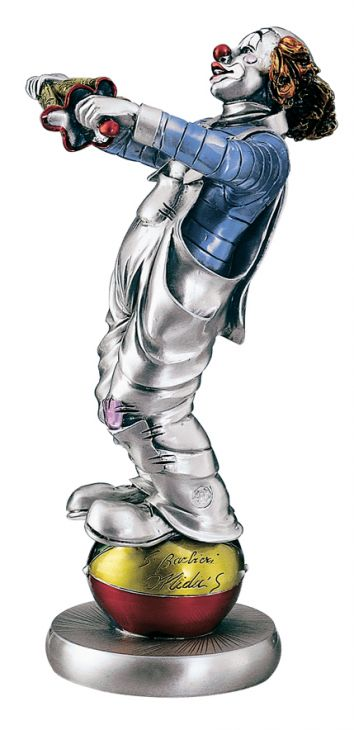 Серебряная коллекционная фигурка клоуна-эквилибриста (Valenti & Co, Италия)