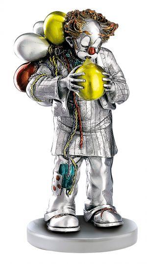 Серебряная коллекционная фигурка клоуна с воздушными шарами (Valenti & Co, Италия)