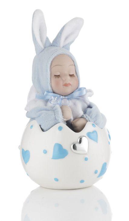 Музыкальное яйцо (розовое или голубое) с малышом в подарок ребенку и будущей маме (Valenti & Co, Италия)