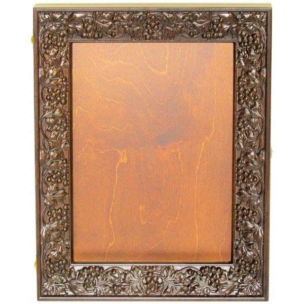 """Киот из натурального мореного дуба для иконы размером 21*29 см. мастерской """"Раздолье"""""""