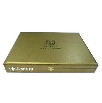 Подарочная коробка «Галерея Благолепия» для иконы размером 7*8см. («кожа змеи»)