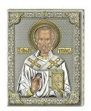 Серебряная икона Святой Николай (листовое серебро, 20*26 см., Valenti & Co, Италия)