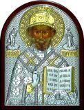 Икону святителя Николая Чудотворца (Угодника) (19*25) в серебре с золочением купить