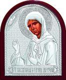 Икону Святой Блаженной Матроны Московской (9*11) в серебре купить