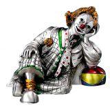 ЧТО ПОДАРИТЬ НАЧАЛЬНИКУ НА НОВЫЙ ГОД ДЕНЬ РОЖДЕНИЯ Серебряная коллекционная фигурка клоуна сидящего с мячом (Valenti & Co, Италия)